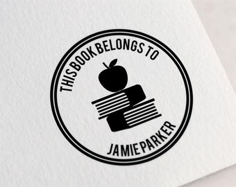 This Book Belongs To Stamp, Custom Library Stamp, Personalized Book Stamp, Ex libris Stamp, From The Library Of Stamp Z16