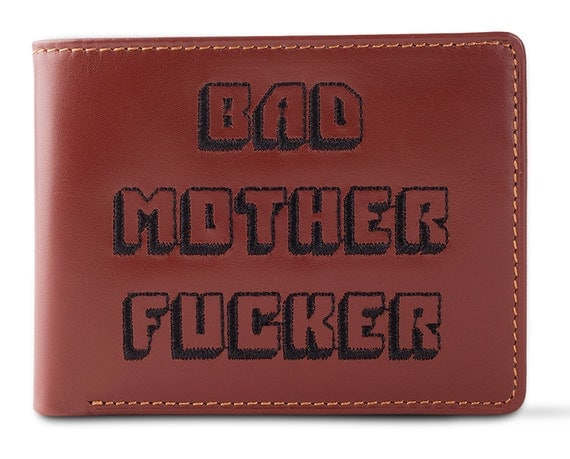 Bad Mofo Burgundy Embroidered Bad Mother Fucker Leather Wallet