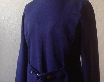Vintage wool dress. Couture dress. Vintage dress.