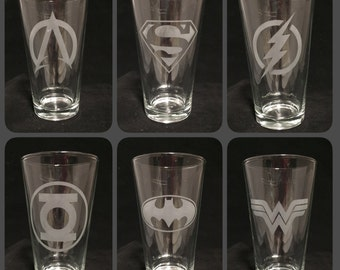 Justice League Glass Set