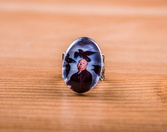 Ring Hitchcock / birds / Ring Alfred Hitchcock / The birds / jewelry Cabochon