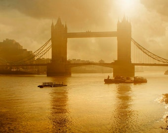 Tower Bridge, London, England, Thames River, Sunrise, photography, wall art