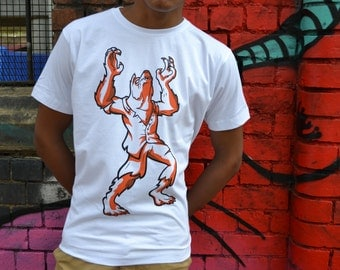 WEREWOLF I'm A Monster T-Shirt - Original,  Graphic Design, Screen Printed - Limited Edition, Series 1
