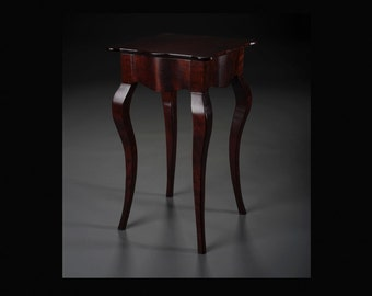 Serpentine Side Table in Solid Curly Cherry