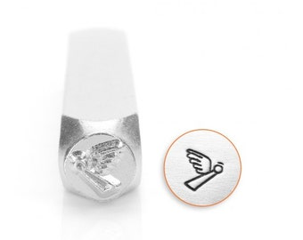 Spiritual Metal Stamps, Angel Design Stamp, 6mm Jewelry & Craft
