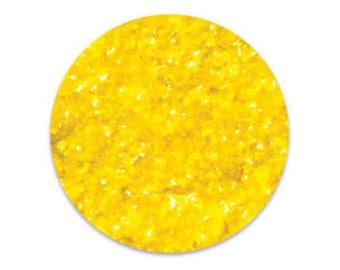 Yellow Edible Glitter Flakes 4 oz