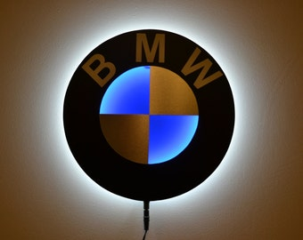 BMW Style Sign Wall Lamp Led Handmade