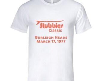Vintage Surf Stubbies Burleigh Heads Aus 1977 Tsg T Shirt