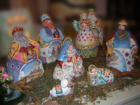 Nativity Scene Handmade Ceramic