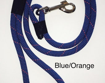 Recycled Climbing Rope Leash (6 Color Choices)