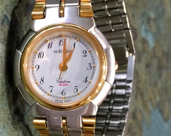 Vintage Aureole Ladies Quartz Wrist Watch 1960 Era