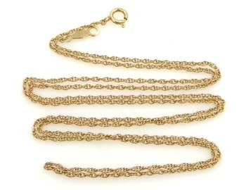 "14k Gold Woven Links 24"" Long Chain or Necklace"
