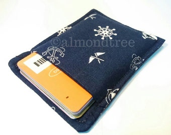 Sailing, nautical, anchor, gift card holder, credit card case, slim minimalist wallet, id1370359, front pocket, gift for him
