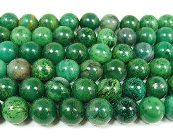 African Jade Round Gemstone Beads