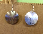Stamped Sterling Alaska Big Dipper Earrings