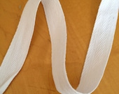 40 yards White Cotton Twill Tape .25 per yard in 20 2-yard pieces Banners Crafts Sewing Supplies