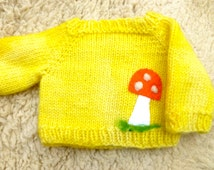 Wool sweater for doll or teddy bear ready to ship hand knit sweater