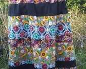 Flowers and flannel Drawstring Skirt