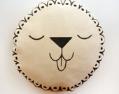 Lion Face Cushion Pillow - READY TO SHIP