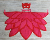 PJ Owlette Wings Red Pink Owl Wings Owlet Bedtime Hero Free Surprise Gift with Wing & Mask Purchase READY SHIP