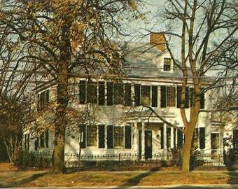 Vintage 1950s Postcard New Jersey Bridgeton General Giles House Broad Street Architecture Home Photochrome Era Postally Unused