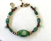 Im Listening. Chrysophrase stone bracelet. Fundraising collection