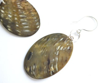The Undercurrent- Brown Shell Statement Earrings