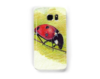 LADYBUG cell phone case for  iphone 5/5s, iphone 7 6/6s samsung galaxy s7 s6 s5 original art of Ela Steel colored pencil drawing  hard case