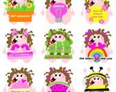 Kittypinkstars positivity stickers pack 9