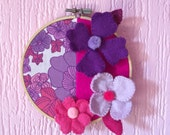 Flower power hoop RESERVED FOR AMY