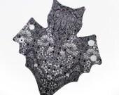7.5 inch reusable floral BAT light cloth pad