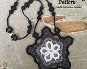 PDF Tatting Pattern -Black Star - Pendant - Necklace