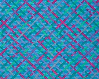 MAD PLAID in TURQUOISE Blue,by Brandon Mably  1/2 yard  Westminster Fabric Cotton, Quilt Craft and Apparrell fabric