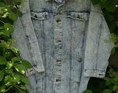 Vintage 1980s Denim Jacket Oversized Acid Washed Vintage Clothing Long Denim Jacket Womens Clothing Jackets Coats