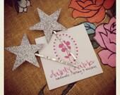 Silver glitter star hair pins set, 2 small stars
