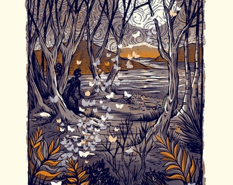 Night of the Moths - Screenprinted Art Print