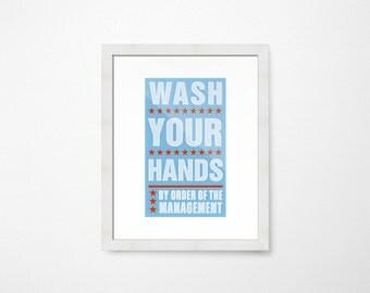 bathroom wall decor kids bathroom decor kid wash your hands print kids bathroom