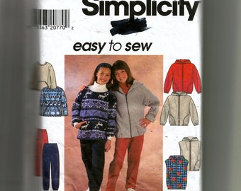 Simplicity Girls' Jacket or Vest, Top and Pants Pattern 7812