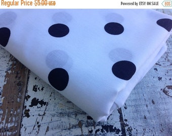 30% OFF SUPER SALE- Polka Dot Fabric-  Polyester Cotton-Navy On White
