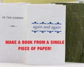 Make Your Own Books, DIY PDF Instructions, Single Sheet Books, Zine Making, Bookmaking, zine instructions, Digitial Download