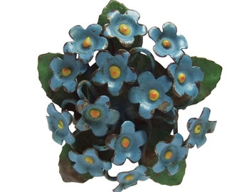 Sweet Forget-Me-Not Flowers Brooch