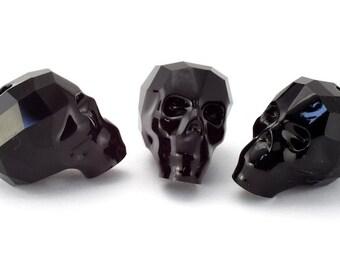 Swarovski Article 5750 13mm Jet Skull