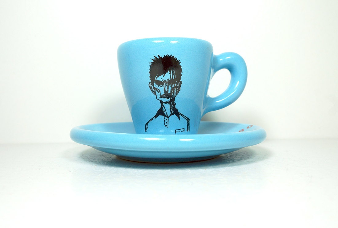 zombie number a. espresso cup w/saucer - Made to Order / Pick Your Colour