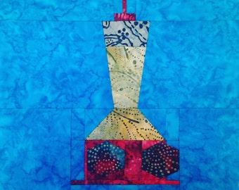 Hummer Feeder quilt block paper pieced pattern download