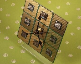 Intel Core 2 Processor Computer Circuit Board Desk Clock