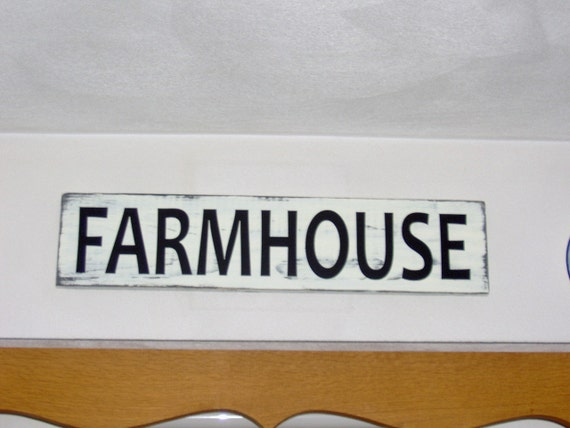 Farmhouse Distressed Wood Sign Vinyl Kitchen Sign Family