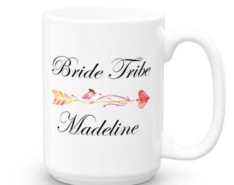 Bride Tribe Coffee Mug - Personalized Mug - Bridesmaid Mug - Bridesmaid Proposal - Wedding Planning Mug - Bridal Party Gift - Coffee Mugs