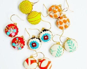 Little Dangle Earrings, Dangle Earrings, Small Dangle Earrings, Colorful Dangle Earrings, gift for her