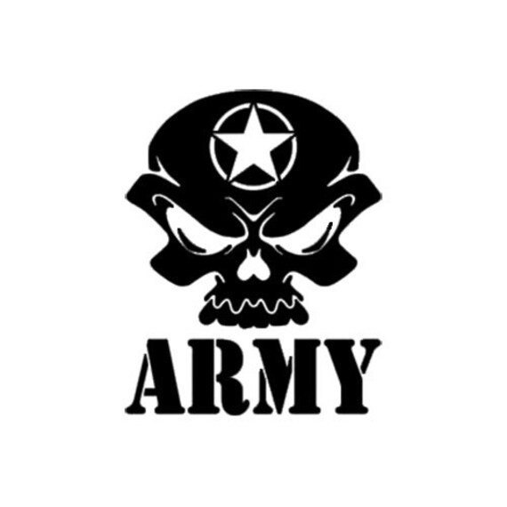 Army Skull Decal Vinyl Decal Army Military