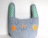 Large Nursery Pillow, Kids Room Decor, Kids Pillow, Happy Bunny Pillow, Easter Gift for Kids